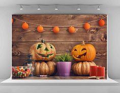 Amazon.com : Pumpkin Photography Backdrops 7x5ft-2.2x1.5m Brown Wood Wall Photo Background Halloween Decoration Backdrop : Camera & Photo