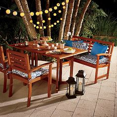 HSN Improvements products help improve your home and garden - from hiding menacing electrical cords, to creating space-saving storage ideas. Dining Table Chairs, Dining Sets, Patio Dining, Apartment Porch, Drop Down Table, Outdoor Wood Furniture, Eclectic Bathroom, Outdoor Living, Outdoor Decor