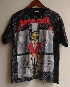 vintage 1992 90s METALLICA Circus Master PUSHEAD artwork ALL OVER t-shirt slayer #Brockum #AllOvertshirt #metallica #circusmaster
