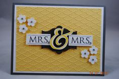 Handcrafted+Mrs+and+Mrs+Wedding+Bridal+Card+by+PaperBlossomsbyAmy,+$3.50