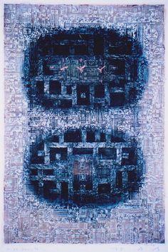 Takahiko Hayashi ~ D-22, 1996 (papermaking, painting, collage)