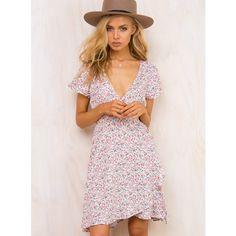 3a3e591d3e62 Penelope Wrap Dress ( 42) ❤ liked on Polyvore featuring dresses
