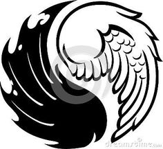 Angel and devil wings Ying Und Yang Tattoo, Ying Yang, Yin Yang Art, Yin Yang Tattoos, Angel Demon Tattoo, Demon Wings, Devil Tattoo, Ange Demon, Wings Drawing
