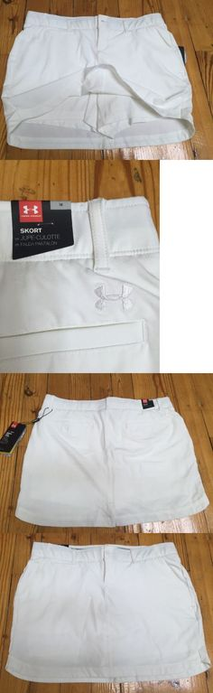 Skirts Skorts and Dresses 179003: Under Armour Women S Golf Skirt Skort White 1272345-100 Sz 10 Nwt $75 -> BUY IT NOW ONLY: $35 on eBay!
