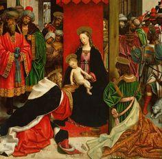 Adoration of the Magi (detail), Defendente Ferrari, about 1520