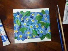 Forget Me Not, Colours, Watercolor, Cats, Tableware, Instagram, Gatos, Watercolor Painting, Dinnerware