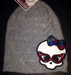 Monster High Hat New Monster Chic Style with Tags Beanie Skully Clothing Girls   eBay