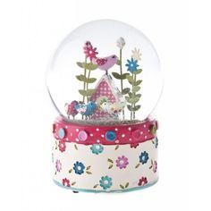 Musical Snow Globes | ... Gisela Graham › Gisela Graham Patchwork Birdhouse Musical Snow Globe