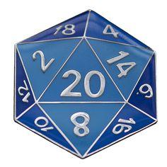 D20: Metal Pin (Assorted Colors)