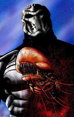 Jason X Alien Chestburster by DougSQ on DeviantArt Horror Art, Horror Movies, Jason X, Jason Voorhees, Xenomorph, Friday The 13th, Nightmare On Elm Street, Halloween Horror, Art Pages