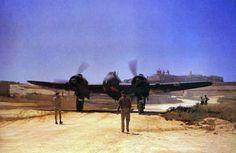 Beaufighter Mk VIF aircraft of No. 272 Squadron RAF at Luqa airfield, Malta, 27 Jun 1943 (Imperial War Museum)