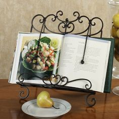Cristiano Wrought Iron Kitchen Cookbook Stand