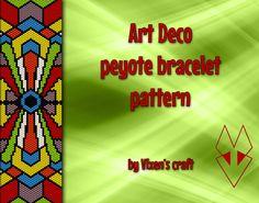 Art Deco peyote bracelet pattern by Vixenscraft on Etsy