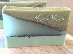 Kiwi Kiwi- Aloe & Shea, Kiwi Cucumber and Mint Fragrance, Poppy Seed from Etsy