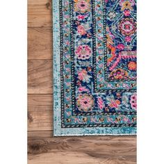 nuLOOM Vintage Persian Border Blue Rug (5' x 7'5) - Free Shipping Today - Overstock.com - 19206245 - Mobile