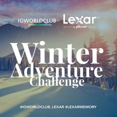 I G W O R L D C L U B  L E X A R | C H A L L E N G E  T H E M E | Winter Adventure T I M I N G | Start: Jan 23 End: Jan 30 Winner: Jan 31  R U L E S  Put the Tag #igworldclub_lexar #lexarmemory to be entered  Must be following @igworldclub @lexarmemory  Post new photos and tag the N between timeframe.  Lexar to selects winner based on theme and creativity  P R I Z E S 1st: 64 GB Lexar Professional SD 2000X  Lexar Professional USB 3.0 Dual Slot Card Reader 2nd: 64 GB Lexar Professional SD…
