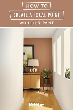 An unexpected pop of color is an easy way to create a focal point in any room. Just check out this mid-century modern living room for inspiration! BEHR® Paint in Cider Spice creates a rich red accent wall that pops against the neutral hue of Painter's White. Plus, both shades are from the new BEHR® 2020 Color Trends Palette! Click below to learn more.