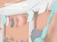 Ruffled Sunshine: Paper Arrow Garland Tutorial