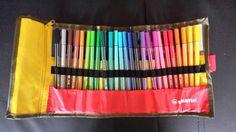 Etui met 25 Stabilo kleurstiften #68