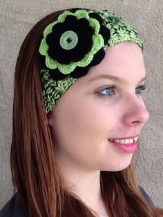 Hand knitted Girls / Ladies Beanie Band / Headband / Ear warmer by HandmadebyAuntyTart on Etsy