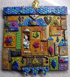 """house"" in polymer clay of various tiles. fun! by yehudity / yehudit"