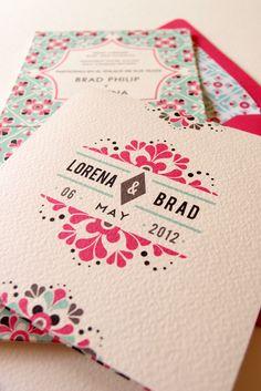 http://embrevecasadinhos.com.br/ | Em Breve Casadinhos | Blog e Design de Casamento | Florianópolis | SC Tulum Mexican Tile Wedding Invitation Suite