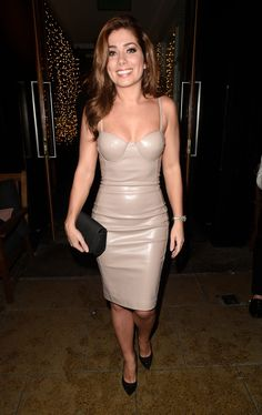 Latex loving: Soap star Nikki Sanderson wowed in the skin-tight dress that showed off her incredible figure as she went out for a night out in Manchester on Friday Leather Bodycon Dress, Dress Out, British Actresses, Celebrity Dresses, Skin Tight, Tight Dresses, Beautiful Actresses, Manchester, Night Out