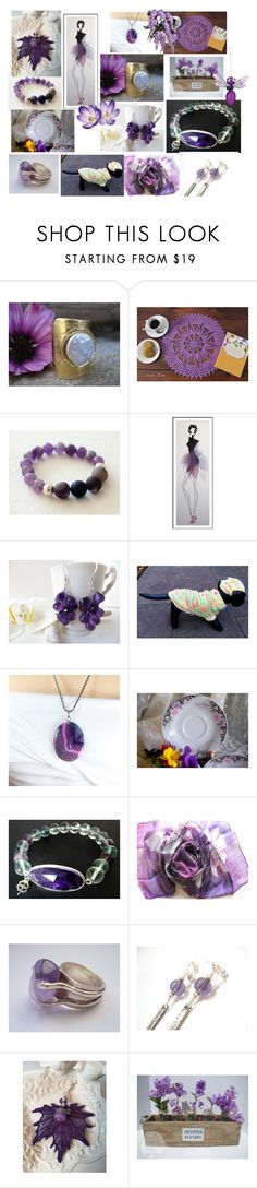 """""""Love Purple"""" by anna-recycle ❤ liked on Polyvore featuring modern, rustic and vintage"""