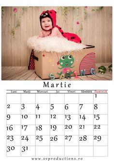 Calendar luna Martie cu tema Primavara, costumas de buburuza!