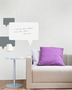 Talking Bubbles dry erase vinyl...clever