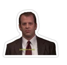 'Toby Flenderson The Office' Sticker by incessantly-you