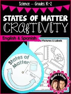 Fun, interactive states of matter craft for early elementary in English & Spanish. Education Quotes For Teachers, Quotes For Students, Quotes For Kids, Elementary Science, Elementary Education, Matter For Kids, Science Images, Properties Of Matter, States Of Matter