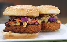 #5under5: Sticky Peanut Orange Rice Burgers [Vegan, Gluten-Free]   One Green Planet