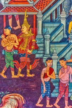 Wall mural, Wat Pho,