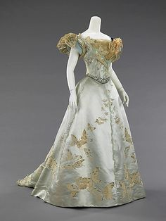 Dress (Ball Gown) House of Worth (French, 1858–1956) Designer: Jean-Philippe Worth (French, 1856–1926) Date: 1898 Culture: French Medium: silk, rhinestones, metal