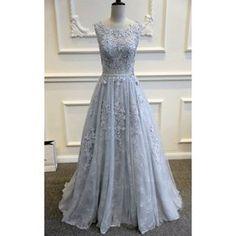 šedé plesové šaty na maturitní ples Lace XS