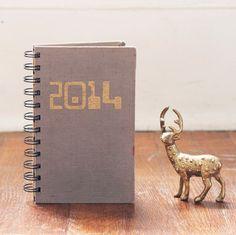 2014 Notebook hc daily planner repurposed by blackbirdandpeacock, $20.00