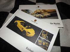 2013 PORSCHE BOXSTER & BOXSTER S BROCHURE PROSPEKT + TEQUIPMENT HARDBACK BOOK A+