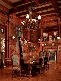 Dining Room at the Driehaus Museum, Chicago.