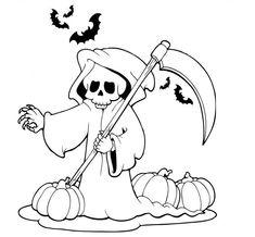 gruselige halloween ausmalbilder zum ausdrucken 06 | halloween ausmalbilder, halloween vorlagen