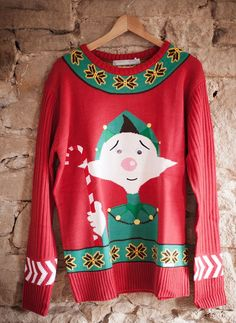 Channel your love of the festive film Elf with this design, also from www.christmasjumperc...
