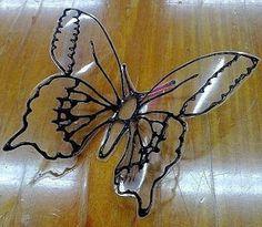 Haz hermosas mariposas reciclando botellas de plástico fácil y bonito ~ lodijoella