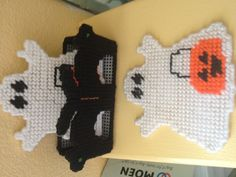 Plastic Canvas  These are Spooky Ghost Coasters