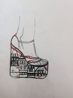 Just a quick sketch of matching accessories for a collection, I have included the liberty print in the sole of the shoe and used the colour along the straps and flowers within the print Liberty Print, Quick Sketch, Design Projects, Archive, Colour, My Style, Creative, Pattern, Flowers