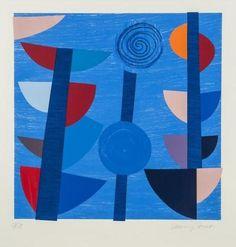 Terry Frost ~ Tolcarne Moon Blue Newlyn, 1997 (screenprint)