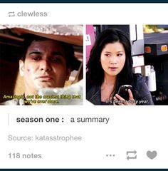 Season one: a summary!!