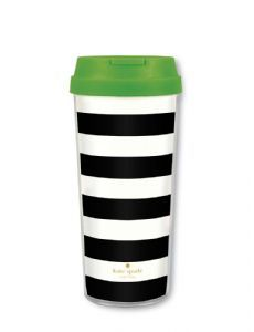 Bring the sparkle of New York to your home with Kate Spade New York tableware and giftware. Kate Spade at Tableking - fast delivery - great prices Thermal Travel Mug, Thermal Mug, Travel Mugs, Urban Outfitters, Girlie Style, Kate Spade, Home Gifts, Black Stripes, Mother Day Gifts