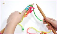 TEACH KIDS HOW TO KNIT:  This will keep the kids entertained if you're cooped up inside this weekend. Love the simple rhyme. Helpful videos too!  SEE DETAILS HERE: http://imaginationsoup.net/2014/10/teaching-kids-knit/
