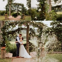 Chateau de Brametourte wedding Anna & Alex share a quiet moment together by the fountain in the garden by Wild Connections Photography Quiet Moments, French Wedding, Fountain, Destination Wedding, Anna, Wedding Inspiration, In This Moment, Wedding Dresses, Garden