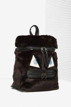 Nasty Gal x Nila Anthony Gone Mad Faux Fur Backpack